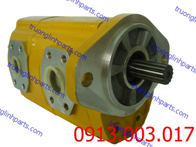 Bơm thủy lực bánh răng KAYABA cho xe gạt KOMATSU GD521A-1 , GD510R-1