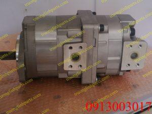 Bơm thủy lực bánh răng xe xúc lật KOMATSU WA300-1 , WA320-1 , WA180-1 / 705-51-20070