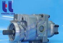 Bơm thủy lực bánh răng – bơm thủy lực xe xúc lật Komatsu WA500-3.