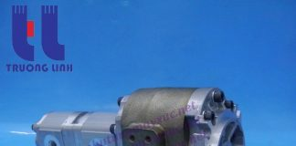 Bơm thủy lực Shimadzu chính hãng của Nhật Bản FT3-56.20.11R680( FT3-562011A9S9-R680) Xe Xúc Lật Hitachi LX70.